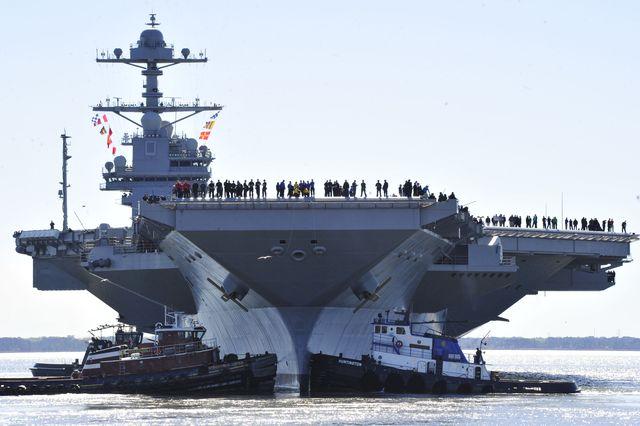 uss gerald r ford begins builder's sea trials