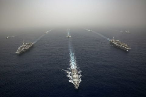 Abraham Lincoln and John C. Stennis Carrier Strike Groups Conduct Carrier Strike Force Operations
