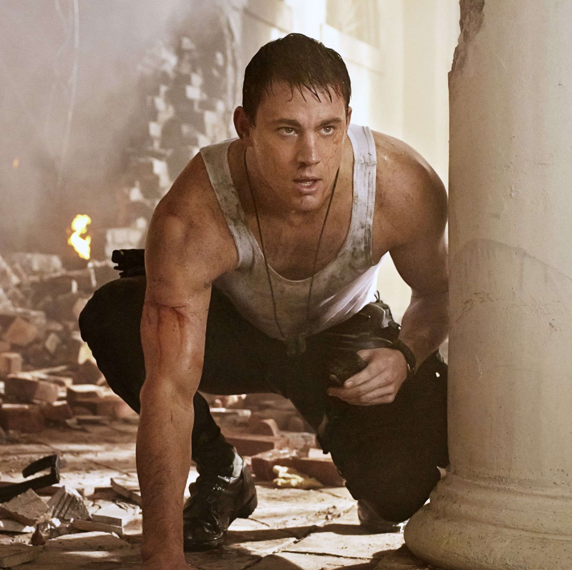 Jamie Foxx and Channing Tatum in 'White House Down'