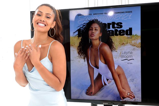 leyna bloom 2021 sports illustrated swimsuit cover reveal