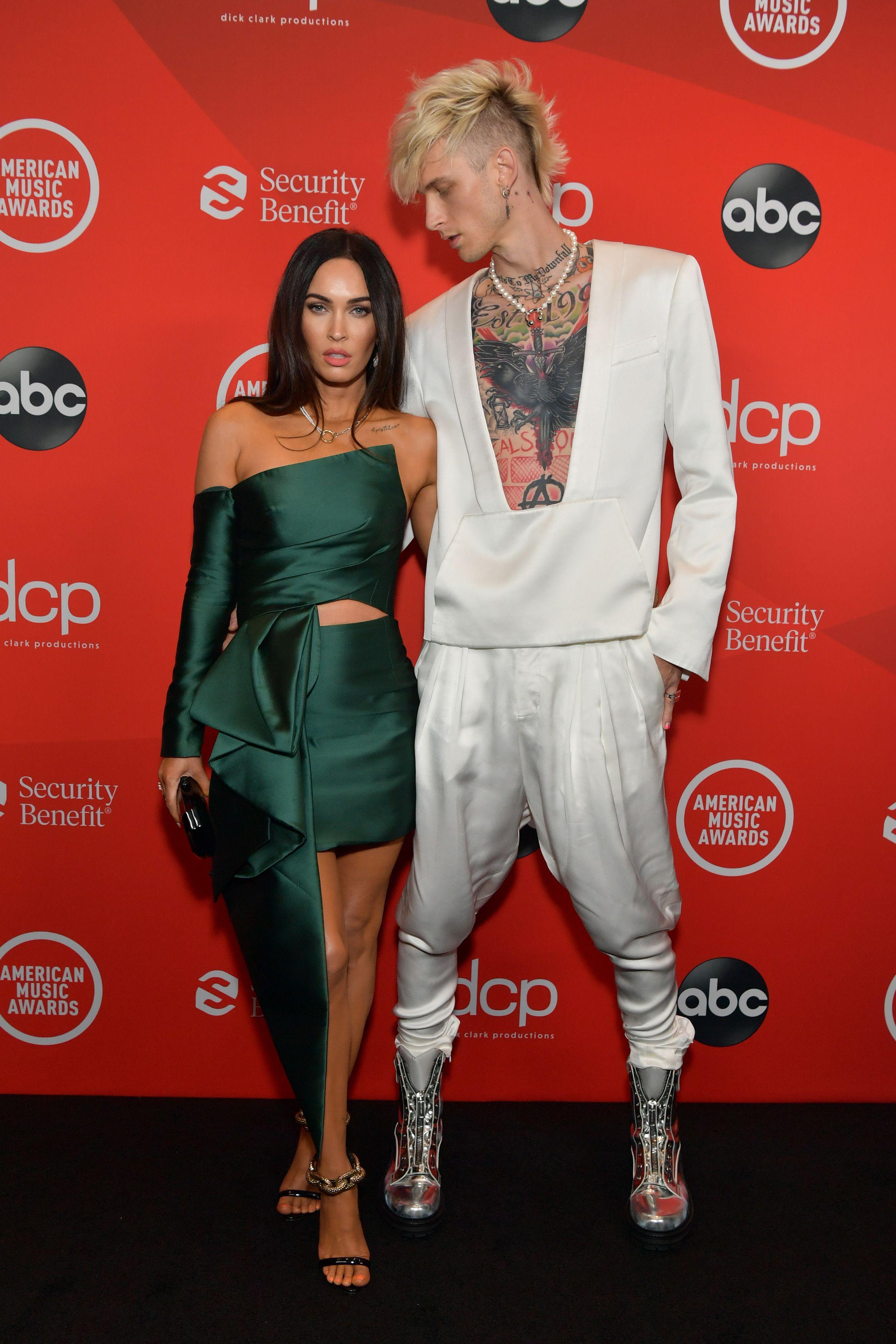Megan Fox and Machine Gun Kelly Make Their Glitzy Red Carpet Debut at the 2020 AMAs