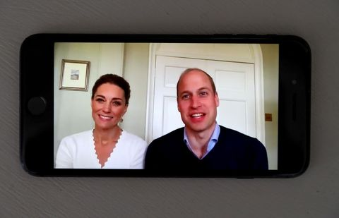 "the duke and duchess of cambridge mark the first anniversary of crisis text service ""shout"""
