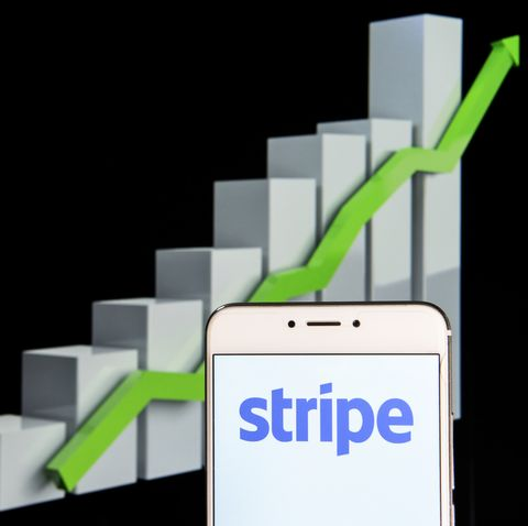 online payment platform stripe logo is seen on an android