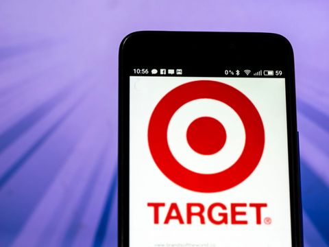 Target Corporation logo seen displayed on a smart phone