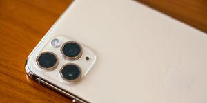 In this photo illustration  the triple camera design on the...