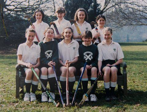 st andrew's school team photo of kate middleton