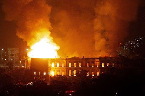 Incendio Museo Nacional de Río