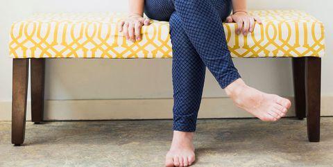 woman crossed legs