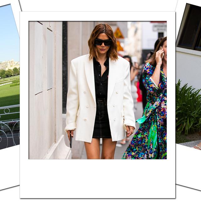 Clothing, White, Fashion, Outerwear, Street fashion, Blazer, Dress, Jacket, Formal wear, Suit,