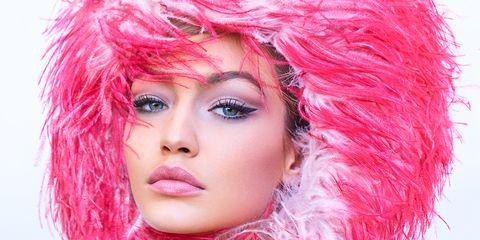 Nose, Mouth, Lip, Eye, Hairstyle, Chin, Eyebrow, Eyelash, Magenta, Pink,