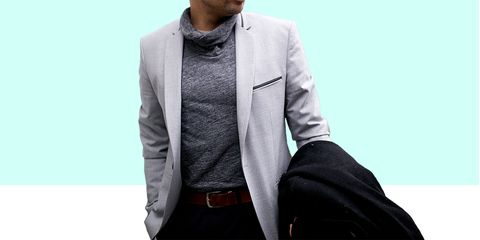 Clothing, Suit, Outerwear, Blazer, Collar, Jacket, Formal wear, Sleeve, Pocket, Button,