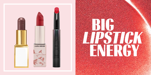 Lipstick, Red, Cosmetics, Pink, Beauty, Lip care, Lip, Material property, Tints and shades, Brand,