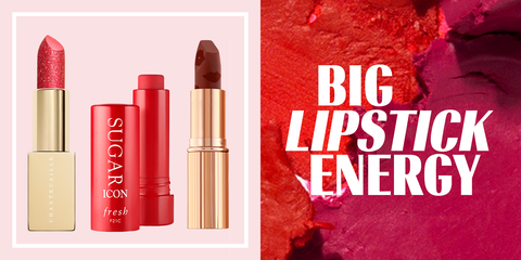 Red, Lipstick, Lip, Pink, Cosmetics, Beauty, Lip care, Tints and shades, Material property, Peach,