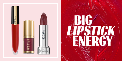 Red, Lipstick, Cosmetics, Pink, Product, Beauty, Lip care, Lip, Material property, Tints and shades,