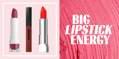 Lipstick, Red, Pink, Cosmetics, Product, Beauty, Lip care, Text, Lip, Tints and shades,