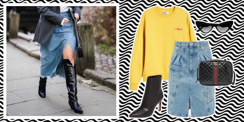 Clothing, Street fashion, Blue, Footwear, Yellow, Jeans, Denim, Boot, Fashion, Leg,