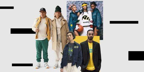 Fashion, Yellow, Outerwear, Street fashion, Jacket, Denim, Textile, Fashion design, Hood, Jeans,