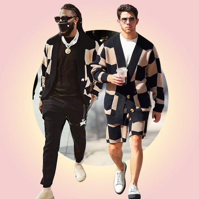 celebrities keiser clark chervon knit sweater