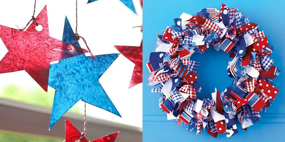 20 easy 4th of july crafts diy ideas patriotic american flag crafts for fourth of july. Black Bedroom Furniture Sets. Home Design Ideas