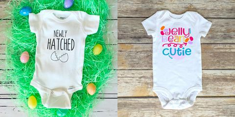 ccdf1cd5faf4 baby easter outfits. Sweet Peat Calligraphy + Craft Cabin Co via Etsy. A baby's  first ...