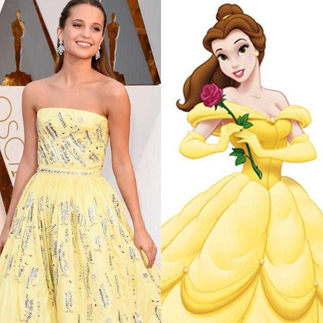 celebs dressed as disney princesses