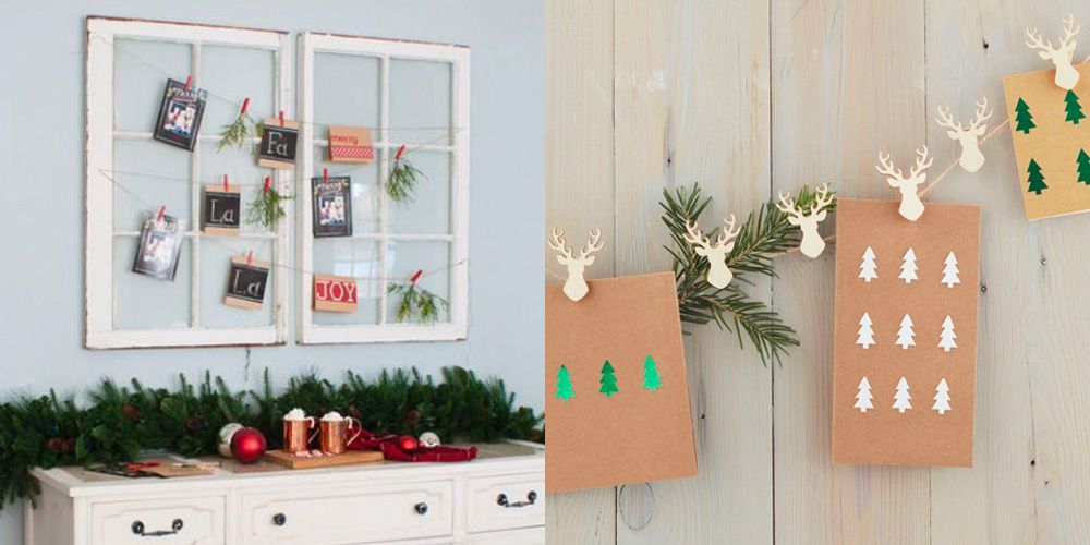 20 diy christmas card holder ideas how to display christmas cards. Black Bedroom Furniture Sets. Home Design Ideas