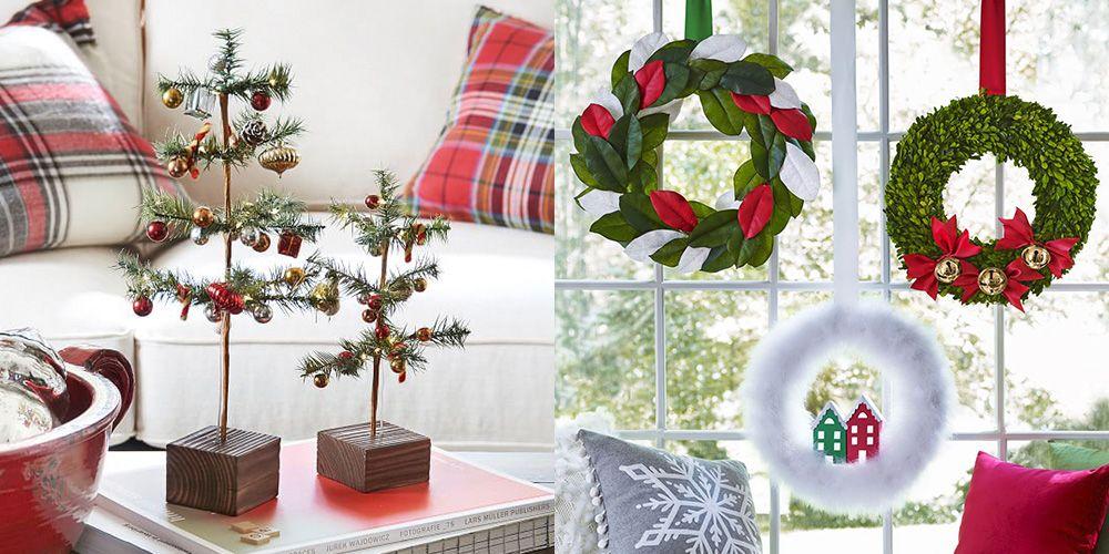 55 easy diy christmas decorations homemade ideas for holiday rh womansday com christmas decoration ideas pictures christmas tree decorating ideas pictures