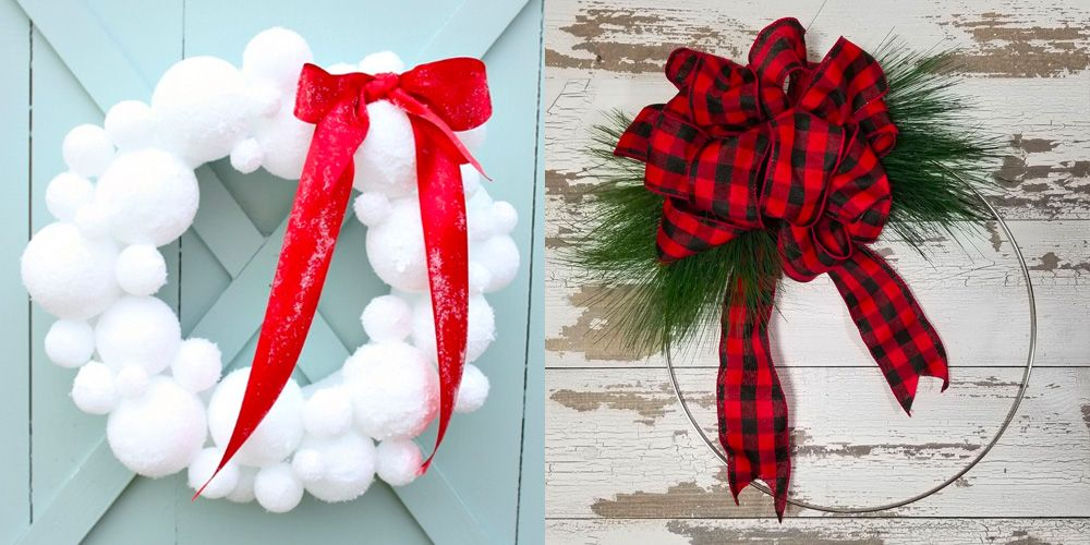 How to make easy christmas wreath bows