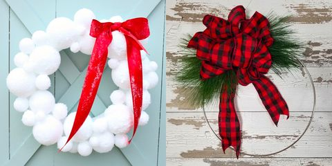 45 Diy Christmas Wreath Ideas How To Make A Homemade Holiday