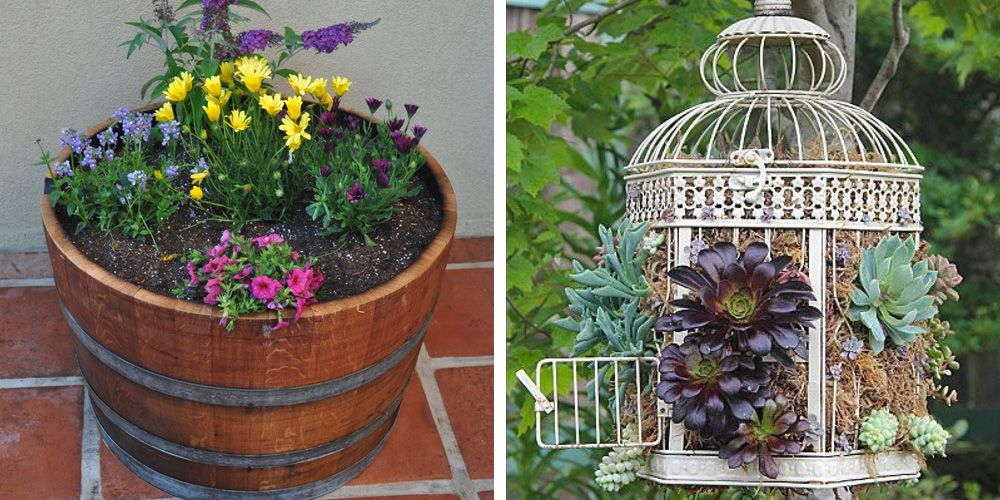 Secret Garden: 12 Unique Container Gardening Ideas