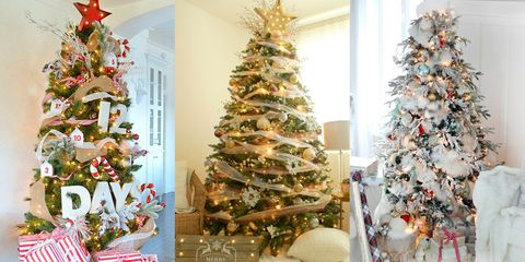 33 Unique Christmas Tree Decoration Ideas Pictures Of Decorated