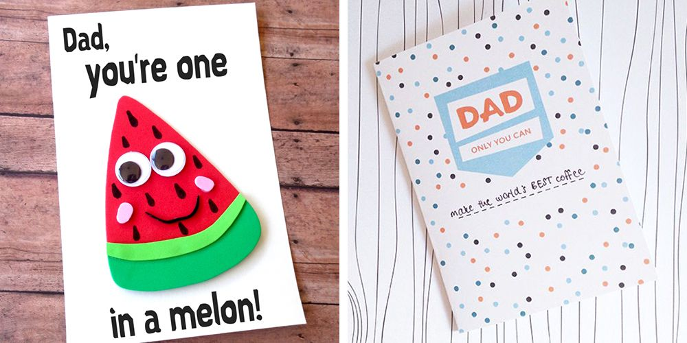 Diy Birthday Card For Dad From Toddler Homemade Birthday Cards For