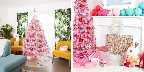 Pink Holiday Trees Trend Pink Christmas Trees