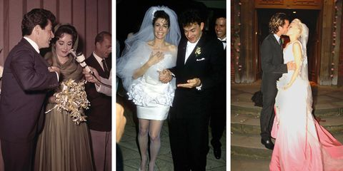 b5db624adf1 The 30 Most Scandalous Wedding Dresses of All Time - Famous Wedding ...