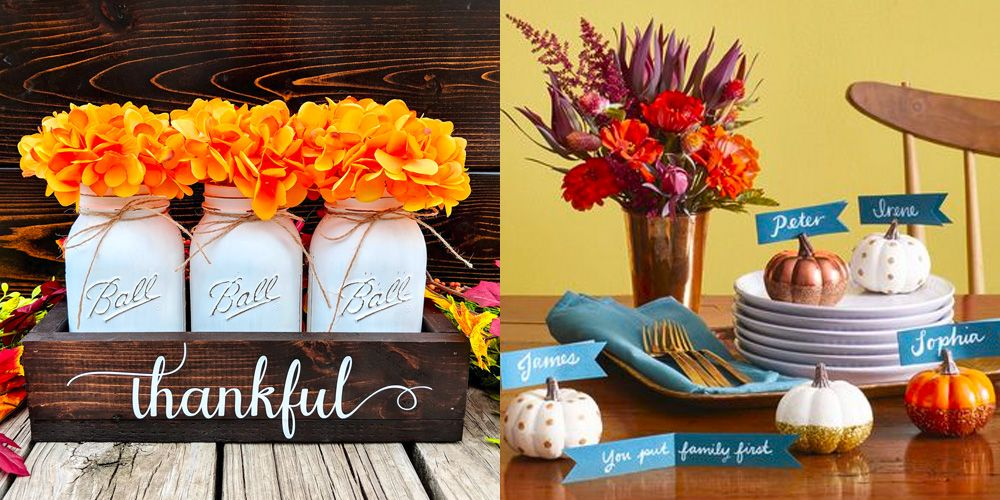 25 easy thanksgiving decorations home decor ideas for thanksgiving rh womansday com free pictures of thanksgiving decorations pictures of outdoor thanksgiving decorations