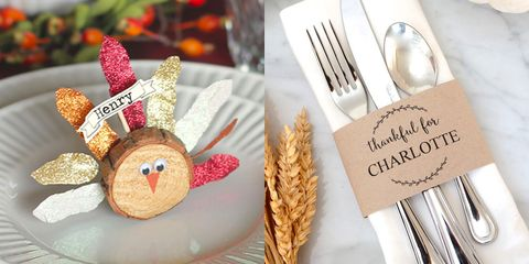 15 Diy Thanksgiving Place Cards Craft Ideas For Fall Table