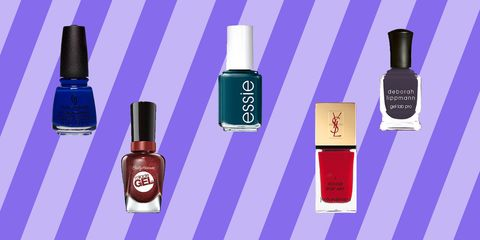 winter nail polish colors - lead image collage