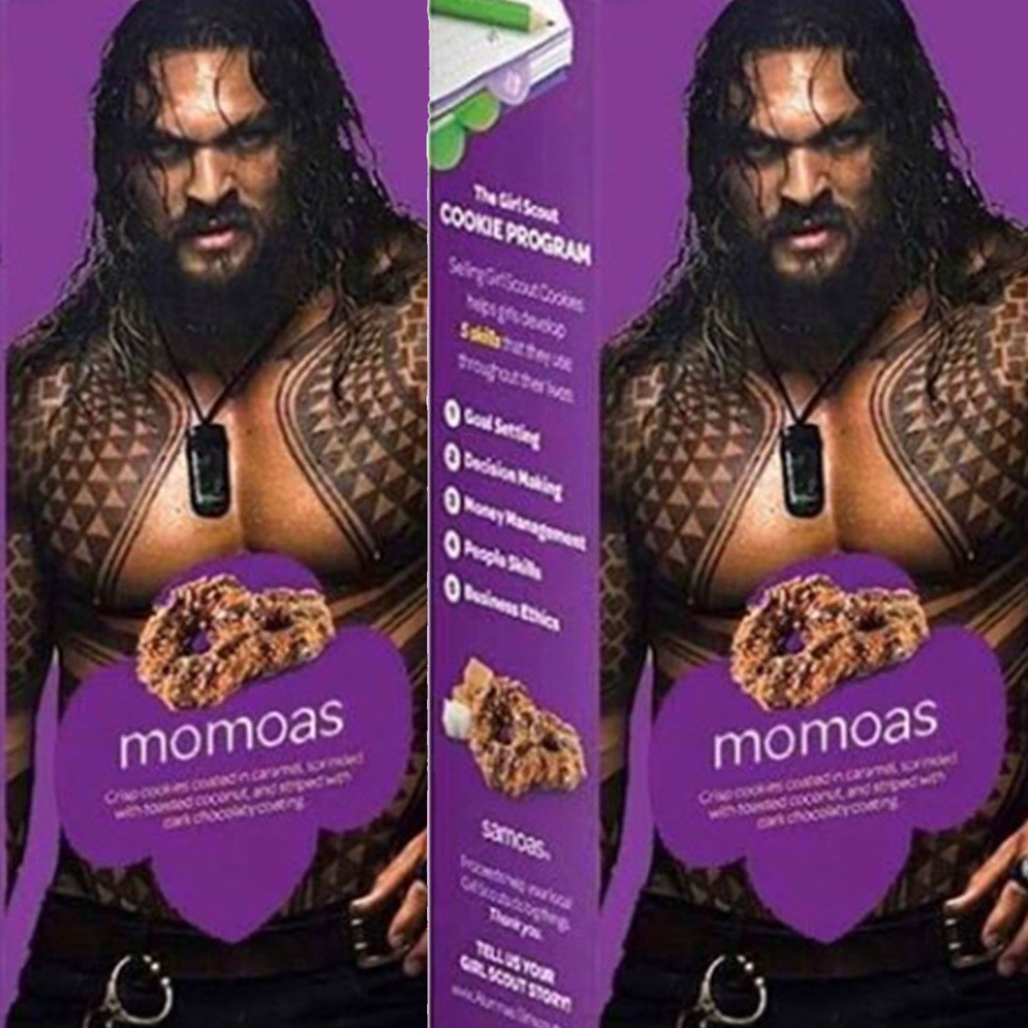 A Girl Scout Put a Shirtless Jason Momoa on a Box of Samoas and Sales Skyrocketed