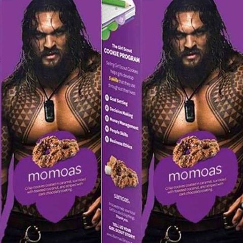 Flipboard A Girl Scout Put A Shirtless Jason Momoa On A Box Of