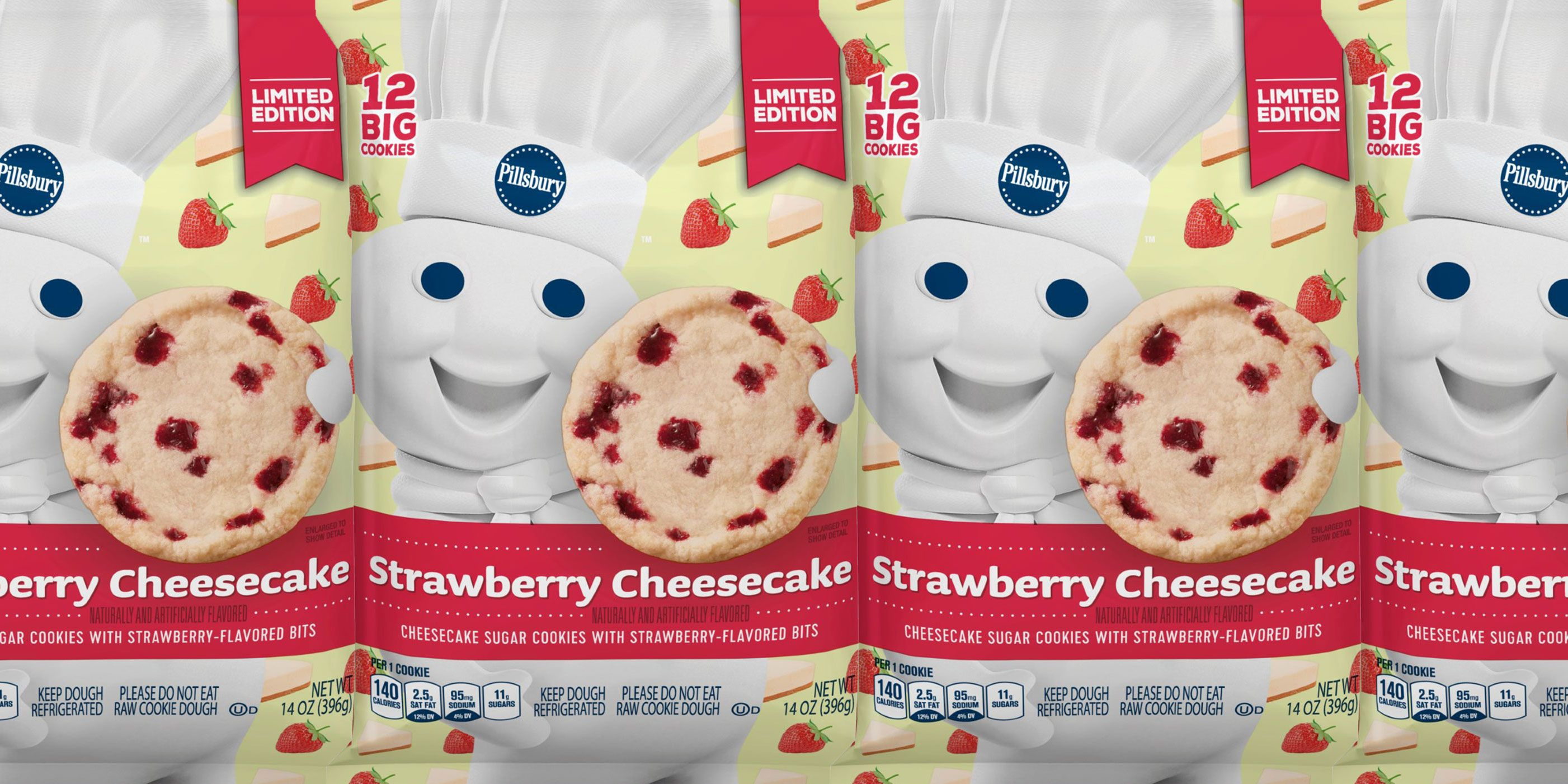 Pillsbury S Limited Edition Strawberry Cheesecake Sugar Cookies Are