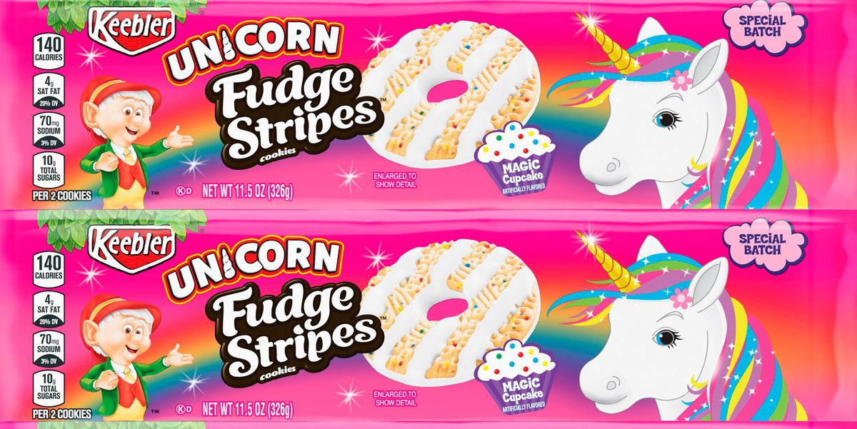 Keebler Made Unicorn Fudge Stripes Cookies With A Cupcake