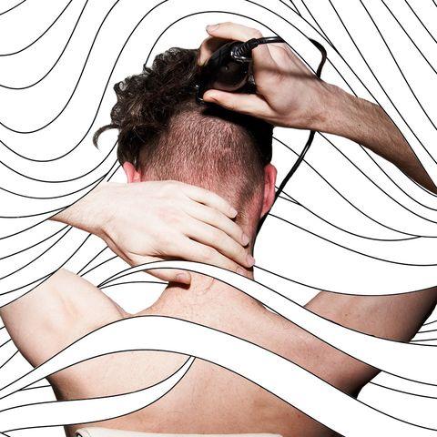 Skin, Neck, Arm, Shoulder, Joint, Illustration, Muscle, Hand, Ear, Back,