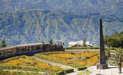 Train holidays - Toy Train of the Darjeeling Himalayan Railway listed as a World Heritage Site,