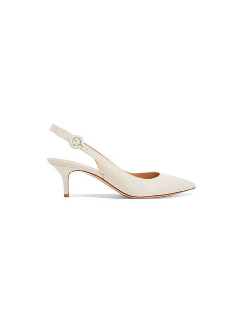 Footwear, Slingback, Shoe, Beige, High heels, Sandal, Court shoe, Bridal shoe,