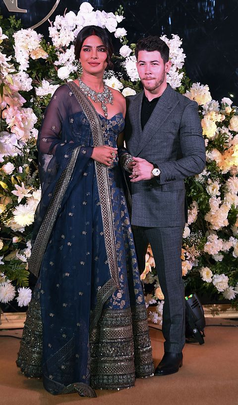 aab3f64a42 11 The Mumbai Reception Look. INDIA-US-ENTERTAINMENT-CELEBRITY-WEDDING.  SUJIT JAISWALGetty Images