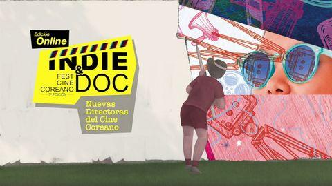cartel de la edicion 2020 del festival indie  doc de cine coreano