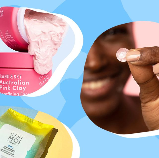 indie skincare pink clay mask, miracle patch, no bs toner, aqua boost mask, makeup wipes