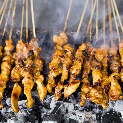 Indonesian Cuisine Chicken Satay
