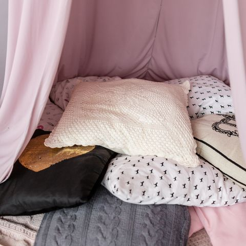 pillow and blanket fort