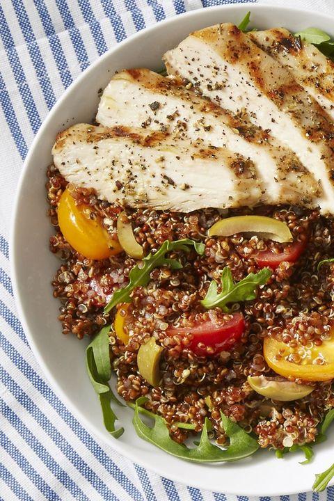 easy indoor grill recipes - chicken quinoa bowls